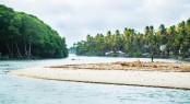 Toco Beach Trinidad and Tobago, River Joins the sea