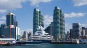 SAN DIEGO, CALIFORNIA - FEB 11 : Roman Abramovich's yacht Luna r
