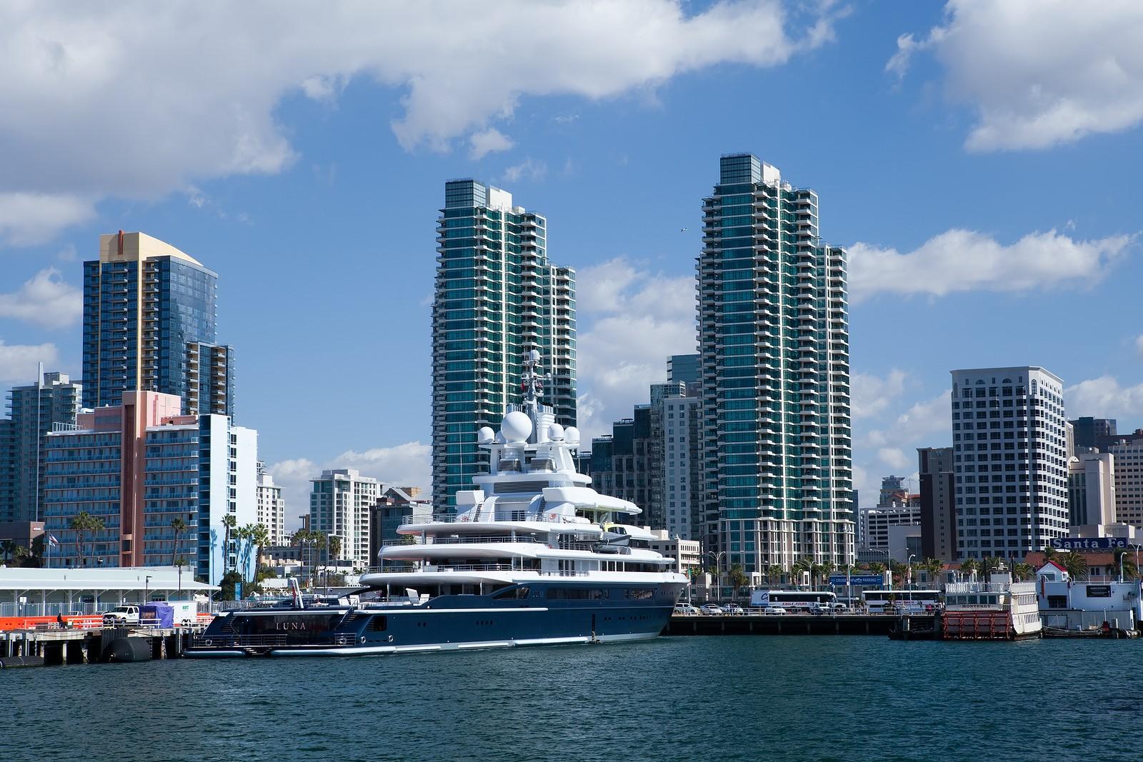 San Diego California Feb 11 Roman Abramovich 39 S Yacht