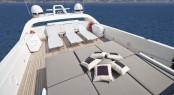 Flybridge of motor yacht TOBY
