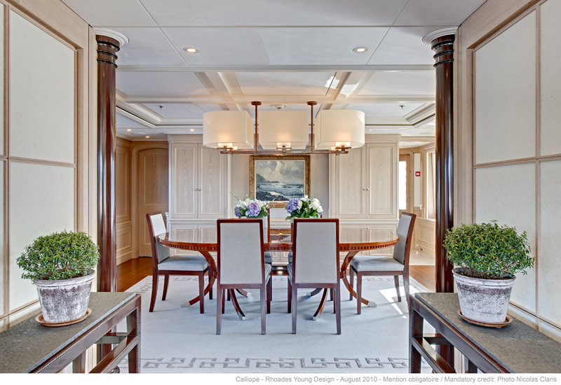 Formal dining area aboard luxury yacht ninkasi yacht for Formal dining area