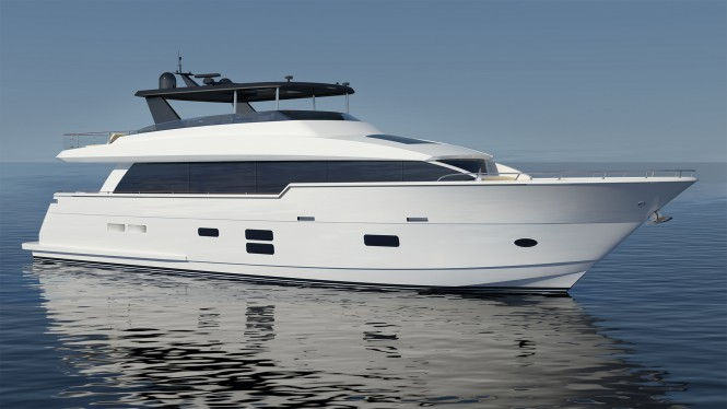 Hatteras 90 motor yacht concept. Image credit - Hatteras