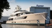 Hull 696 will be officially launched and named shortly. Photo credit - Feadship