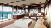 Interior of the Hatteras 90 luxury yacht range - Built by American ship builder Hatteras