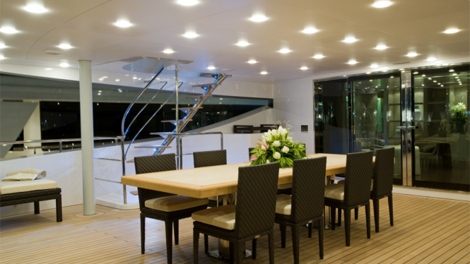 Luxury yacht BURKUT - Upper deck aft