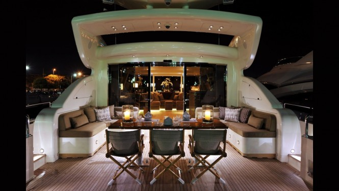 Luxury yacht CHEEKY TIGER - Main deck aft