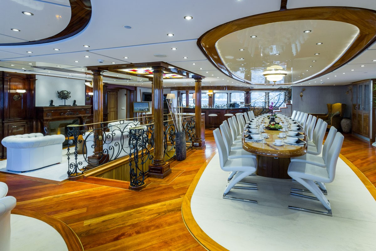 Charter explorer yacht legend in antarctica this winter for Formal dining area