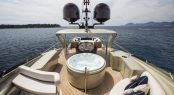 Luxury yacht MIDNIGHT SUN - Jacuzzi, alfresco dining area and sunpads