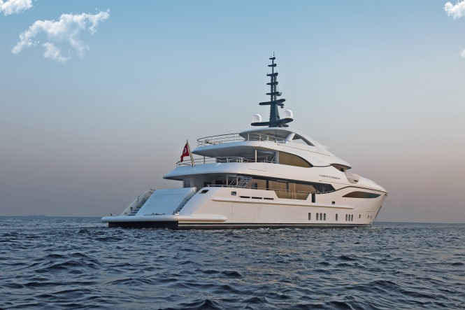Luxury yacht NERISSA - Aft view