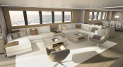 Luxury yacht OCEA X47 - Main salon concept
