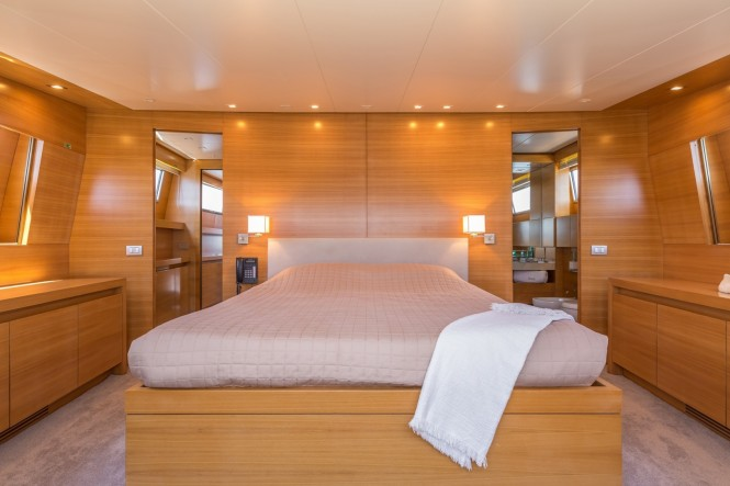 Luxury yacht SUD - Master stateroom