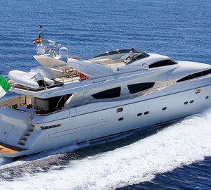 Charter motor yacht Zambezi in the Ionian Sea