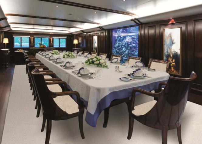 M/Y GRAND OCEAN - Formal dining room