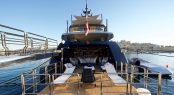 M/Y SARASTAR - Large aft beach club and extensive swim platform