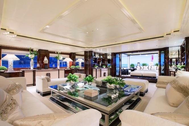Main salon aboard M/Y LIONESS V