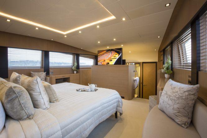 Master suite aboard superyacht MIDNIGHT SUN