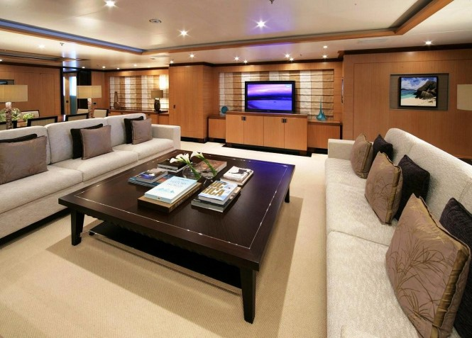 Motor yacht ANDREAS L - Main salon and formal dining area