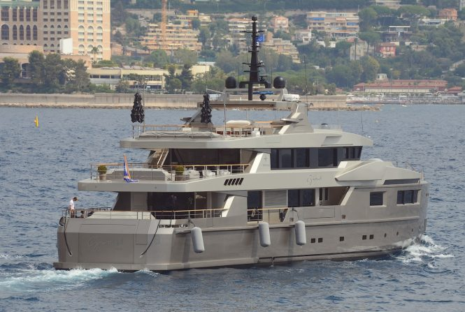 Motor yacht GIRAUD - Built by Admiral Tecnomar. Photo credit Didier Didairbus