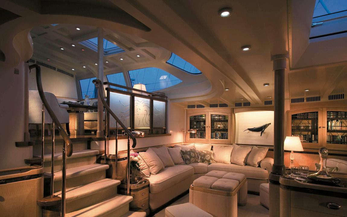 Sailing Yacht Asolare Lower Salon Yacht Charter