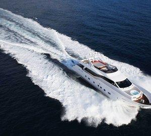 Charter stylish superyacht Aurora in the Eastern Mediterranean