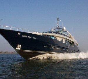 Charter luxury yacht Blue Mamba in the Adriatic
