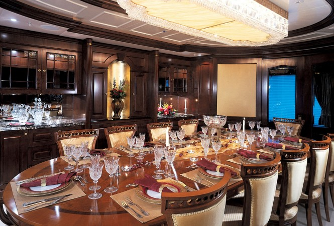 Mediterranean luxury yacht charter superyacht news for Formal dining area