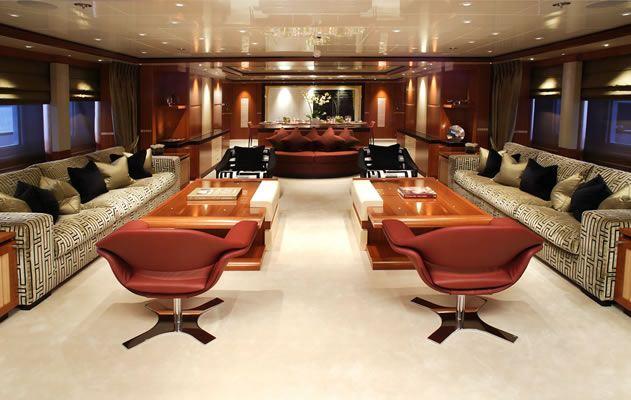 Superyacht SEQUEL P - Main salon