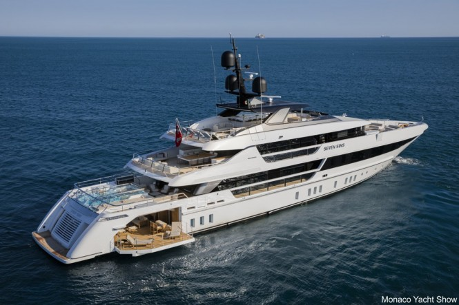 Superyacht SEVEN SINS - Built by Sanlorenzo. Photo credit - Guillaume Plisson