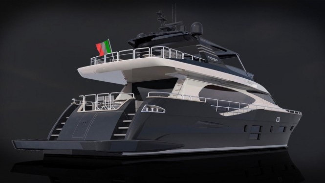The CANADOS 888 EVO superyacht concept - Aft and starboard