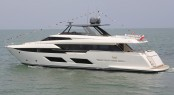 The first Ferretti 920 motor yacht was recently launched at the Cattolica shipyard