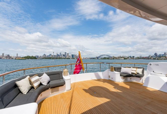The upper deck aft aboard superyacht MASTEKA 2