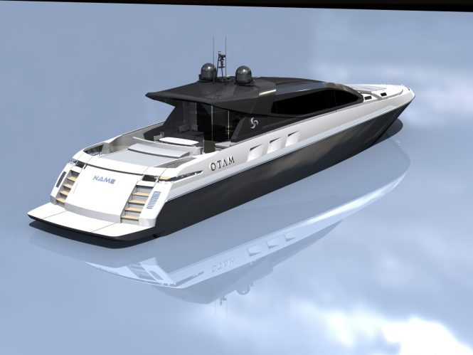 100 HT luxury yacht - Aft view