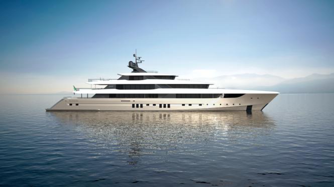 70m luxury yacht SESTANTE concept