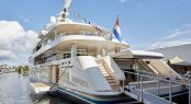 Aft view of motor yacht SAMAYA