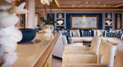 Bar detailing in the main salon aboard superyacht CLOUD 9