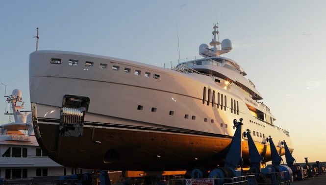 Benetti superyacht SEASENSE at launch. Photo credit - Harman Kardon