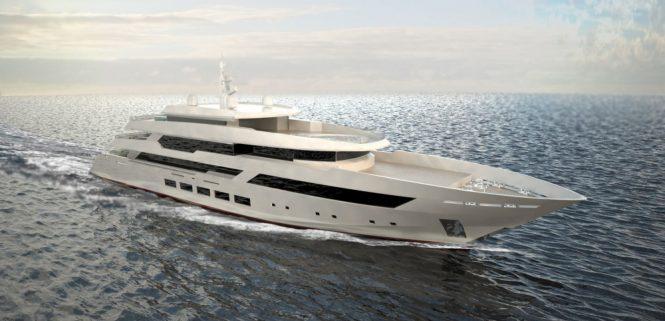 Concept image of superyacht HAIFA - Built by Aegean Yacht