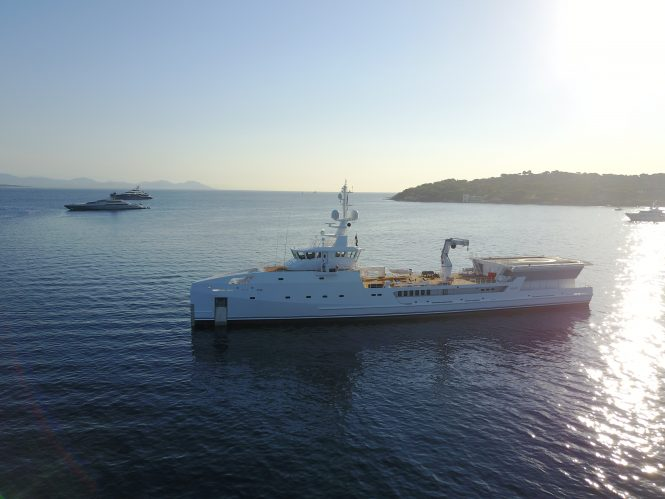 Damen support vessel luxury yacht GAME CHANGER
