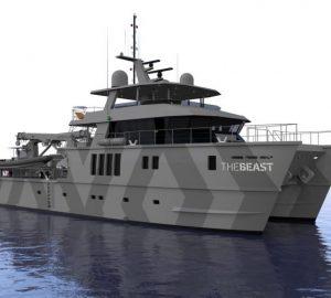 Oceania Interiors named designers for motorised catamaran The Beast