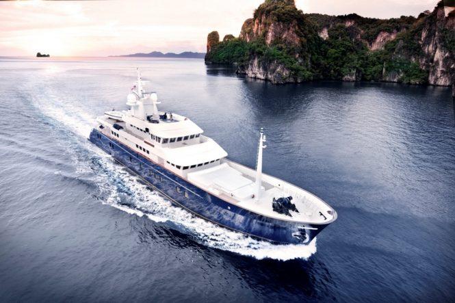 Expedition yacht NORTHERN SUN (ex.HOKKO MARU) - Built by Narasaki Shipyard in 1976