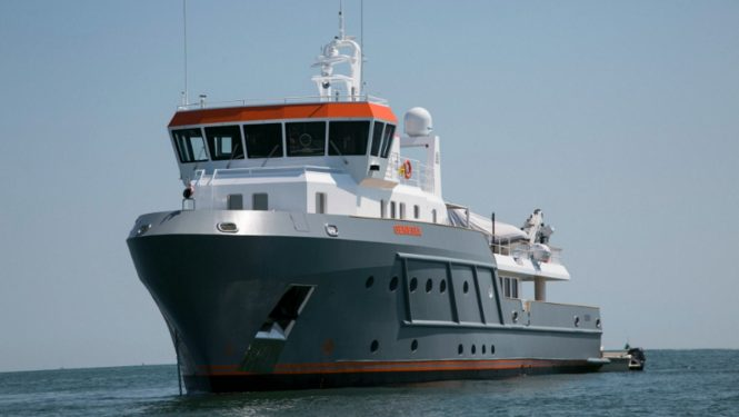 Explorer yacht GENESIA - First hull in the Ocean King 130 range