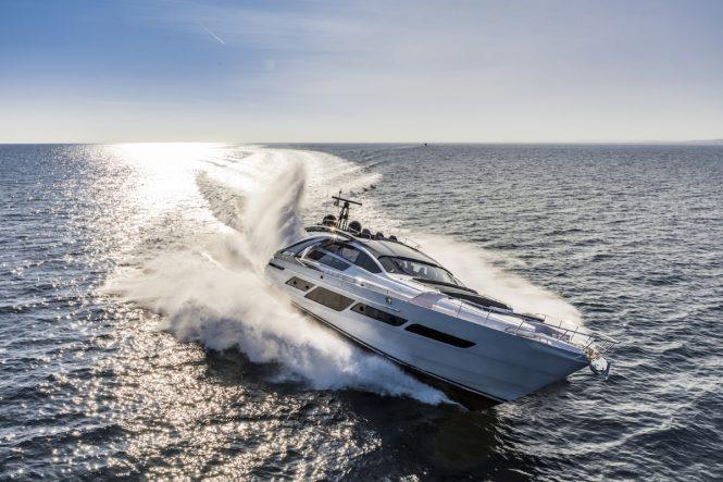 Fast planing Pershing 9x motor yacht NAJATI
