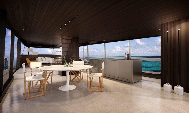 Interior salon concept for the SX88