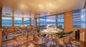 Luxury yacht ALTER EGO - Formal dining area looking aft