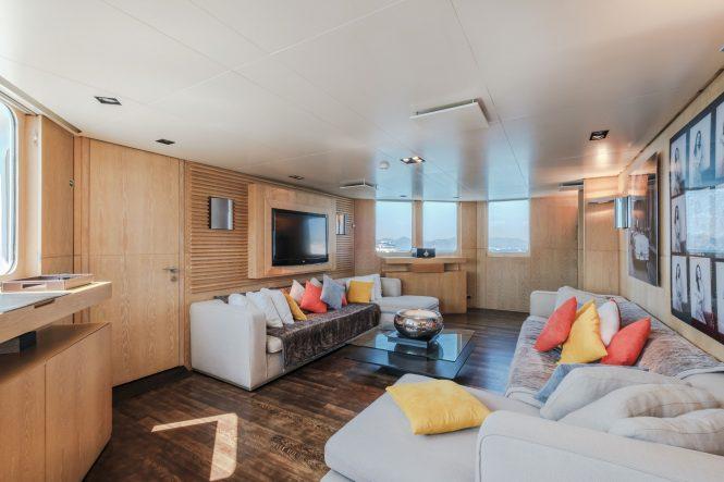 Luxury yacht ALTER EGO - Media room