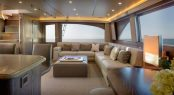 Luxury yacht ATA RANGI - Main salon view from dining area