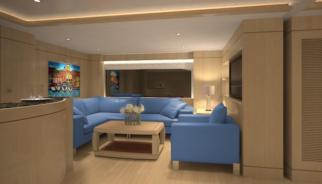 Luxury yacht BLUE VISION - Skylounge