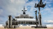 Luxury yacht CLOUD 9 - Gym equipment on the upper deck bow