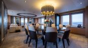 Luxury yacht GO - Main salon and formal dining area