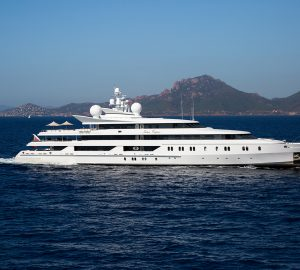 Charter the incredible M/Y Indian Empress throughout the Mediterranean